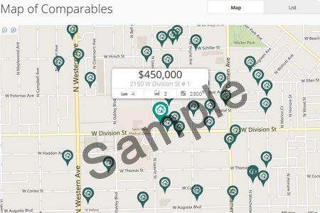 Comparables Map
